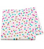 Serviettes - Luncheon, Pop Party Gold Pink & Turquoise 16 pk