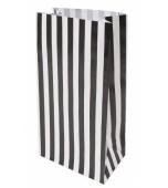 Treat Bag - Stripes, Black 10 pk