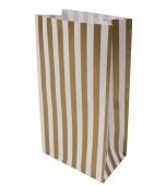 Treat Bag - Stripes, Gold 10 pk