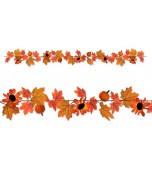 Garland - Autumn Leaves, Pumpkins