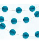 Garland - Honeycomb Balls, Caribbean Blue