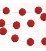Garland - Honeycomb Balls, Red
