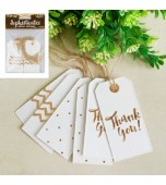 Gift Tags, Assorted Designs - Gold 12 pk