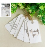 Gift Tags, Assorted Designs - Silver 12 pk
