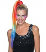 Hair Extension - Ponytail, Rainbow