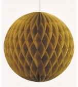 Hanging Decoration - Honeycomb Ball, Gold 20 cm