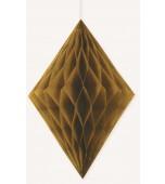 Hanging Decoration - Honeycomb Diamond, Gold