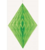 Hanging Decoration - Honeycomb Diamond, Lime Green