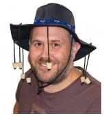 Hat - Cork, Blue with Aussie Flag Band