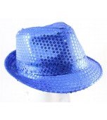 Hat - Fedora, Sequin Blue