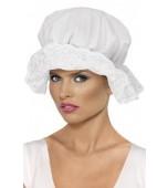 Hat - Mop Cap, White Lace