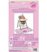 High Chair Decorating Kit - 1st Birthday Lady Bug, Pink