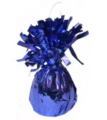 Fringed Foil Balloon Weight - Royal Blue