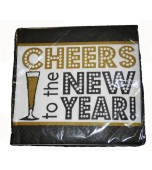 Cocktail Serviettes - Cheers to the New Year 16 pk