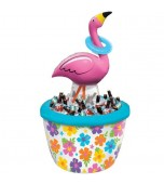 Inflatable Cooler & Ring Toss - Flamingo