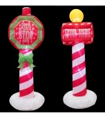 Inflatables - Santa Stop Sign, Assorted