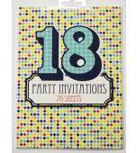 Invitation Pad - 18th Birthday, 20 Sheets