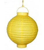 Lantern, Paper 20 cm - Yellow