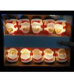 Lights - Christmas, Santas