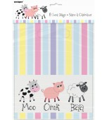 Lolly Bags - Farm Animals Pastel