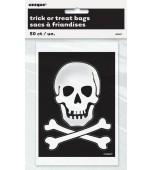 Lolly Bags - Skull & Cross Bones 50 pk