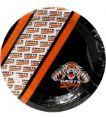 Plates - Dinner, Wests Tigers 6 pk