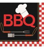 Luncheon Serviettes - BBQ 16 pk
