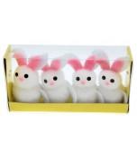 Bunnies - White 4 pk