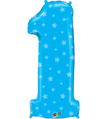 "Balloon - Foil Number, Uninflated Blue ""1"""