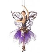 Christmas Ornament - Ballerina, Purple
