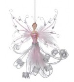 Christmas Ornament - Fairyland Pixie, Light Pink