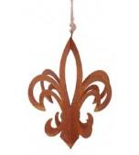 Christmas Ornament - Fleur De Lys, Rust