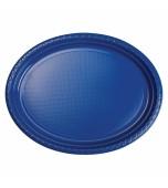 Plates - Banquet, Oval Blue 20 pk