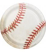Plates - Dessert, Baseball 8 pk