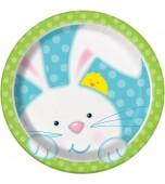 Plates - Dessert, Easter Bunny 8 pk