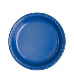 Plates - Dessert, Round Blue 20 pk