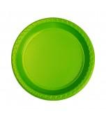 Plates - Dessert, Round Lime Green 20 pk