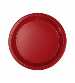 Plates - Dessert, Round Red 20 pk