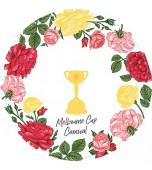 Plates - Dinner, Melbourne Cup Roses 8 pk