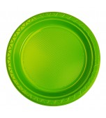 Plates - Dinner, Round Lime Green 20 pk