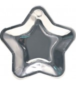 Plates - Dinner, Star Metallic Silver 8 pk