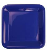 Plates - Banquet, Square Blue 20 pk