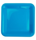 Plates - Banquet, Square Electric Blue 20 pk