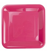 Plates - Banquet, Square Hot Pink 20 pk