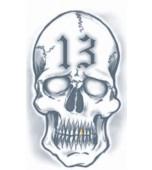 Tattoo - Prison, 13 Skull