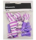 Blowouts - Stripes/Chevron Purple 10 pk