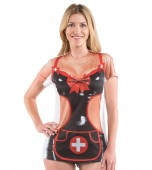 Adult Costume - Faux Real Shirt, Sexy Nurse