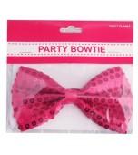 Sequin Bow Tie - Hot Pink