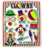 Sticker Book, Mini - Clowns