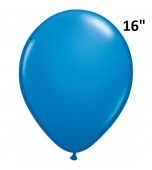 "Balloon - Latex 16"" Standard Dark Blue"